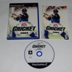 Joc Playstation 2 - PS2 - Cricket 2002 - Jocuri PS2 Sony, Actiune, Toate varstele, Single player