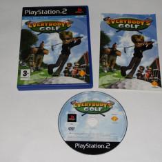 Joc Playstation 2 - PS2 - Everybody's Golf - Jocuri PS2 Sony, Actiune, Toate varstele, Single player