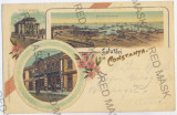 356 - CONSTANTA, Litho - old postcard - used - 1899, Circulata, Printata