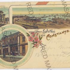 356 - L i t h o, CONSTANTA - old postcard - used - 1899 - Carte Postala Dobrogea pana la 1904, Circulata, Printata