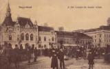 ORADEA , NAGYVARAD , PIATA  SF. LASZLO PARTE DE NORD , ZI DE TARG  , CIRC. 1907, Circulata, Printata