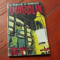 Revista limba Italiana - DIABOLIK nr 331 / banda desenata - 1992 / 130 pag ! - Reviste benzi desenate