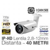 ICSMV-IP1000, Rezolutie HD 720p, Lentila Varifocala 2,8-12mm, IR CUT, Night Vision 40m, ONVIF, ICANSEE