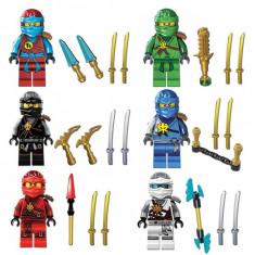 Set 6 minifigurine tip LEGO Ninjago sezonul 7 Nya Cole Jay Kai Lloyd Zane NOI