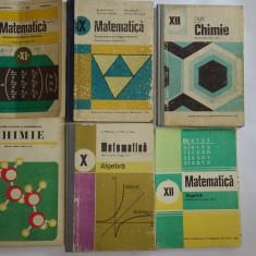 CARTI MATEMATICA CHIMIE, LOT 9 BUCATI .PRET PENTRU TOATE . - Carte Matematica