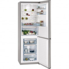 Combina frigorifica AEG S83520CMX2, 312 l, Clasa A++, H 185 cm, Display, Touch control, Inox antiamprenta