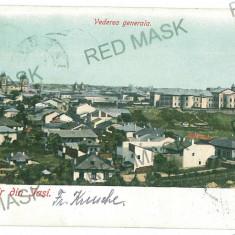 2063 - IASI, Panorama - old postcard - used - 1902, Circulata, Printata