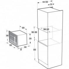 Cuptor cu microunde incorporabil Gorenje Ora Ito BM6250ORAW, 23 l, 900 W, Alb