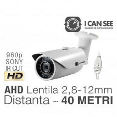 ICSMV-A1300w, AHD, Senzor SONY, Rezolutie HD 960p, IR CUT, 42 IR, Lentila Varifocala, Night Vision 40M, Meniu OSD ICANSEE