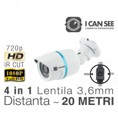 ICSS-UHD1000, UHD 4 in 1, Rezolutie HD 720p, IR CUT, 3, 6mm, Night Vision 20M ICANSEE