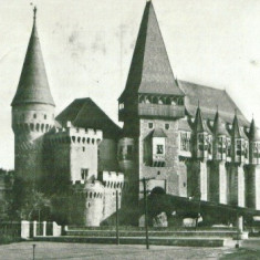 CASTELUL HUNIAZILOR HUNEDOARA - Carte Postala Transilvania dupa 1918, Circulata, Fotografie