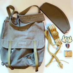 Lot obiecte militare RSR ranita eghilet boneta centura insigna petlite