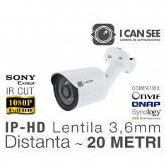 ICSS-IP2400S, Rezolutie Full HD, Lentila Fixa 3, 6mm, IR CUT, Night Vision 20m, ONVIF ICANSEE