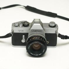 Canon TX + Obiectiv Canon FD 50mm f1.8 - Aparate Foto cu Film