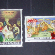 Romania 1998-LP 1473-Craciun 1992(bradut), 1994(mos cra), supratipar, nestampilate. - Timbre Romania