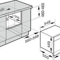 Cuptor Combi Miele ( aburi, microunde ) DGM 6805 OBWS, Electric, 40 l, Clasa A, Negru - Cuptor incorporabil