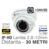 ICSAV-IP2400S, Dome Anti-Vandal, SONY, Rezolutie Full HD, Lentila varifocala 2,8-12mm, IR CUT, Night Vision 30M, ONVIF, ICANSEE