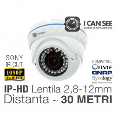 ICSAV-IP2400S, Dome Anti-Vandal, SONY, Rezolutie Full HD, Lentila varifocala 2, 8-12mm, IR CUT, Night Vision 30M, ONVIF - Sistem DVR ICANSEE