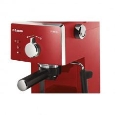 Espressor manual Philips Saeco Poemia HD8423/29, 950 W, 15 Bar, 1.25 l, Rosu - Espressor automat
