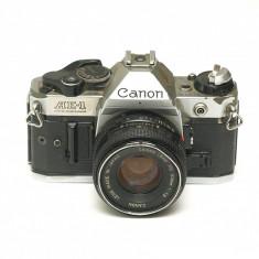 Canon AE-1 Program + Canon 50mm 1.8 - Aparat Foto cu Film Canon