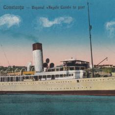 CONSTANTA , VAPORUL REGELE CAROL IN PORT , EDITURA G. T. CONSTANTA