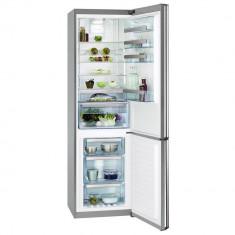 Combina frigorifica AEG S83930CMX2, 350 l, Clasa A+++, H 200 cm, Display, Touch control, Inox antiamprenta