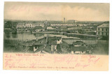 1176 - GALATI, Panorama - old postcard - used - 1903, Circulata, Printata