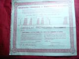 Certificat provizoriu la Soc. Comunala a Tramvaielor Bucuresti 1945