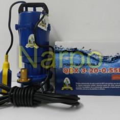 Pompa de apa submersibila Micul fermier fonta QDX 550W 20m 3mc cu plutitor - Pompa gradina, Pompe submersibile, de drenaj
