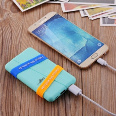 BATERIE EXTERNA Cager S3 6000 mAh, Mint | CADOU - Cablu incarcare 2 in 1, Universala