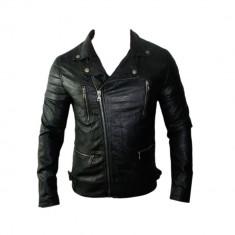 Geaca Barbati Zara David Beckham Jappan Casual Cod Produs 9109, Marime: L, Culoare: Negru, Piele