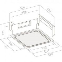 Hota OPTIONAL MODULE UP WHITE GLASS/A/50, Putere de absorbtie 464 mc/h, Inox - Hota incorporabila