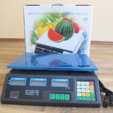 CANTAR electronic Piata sau Magazin acumulator propriu \ priza -  40 kg