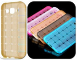 Husa silicon Jelly Case Squares Samsung Galaxy J5 (2016) GOLD