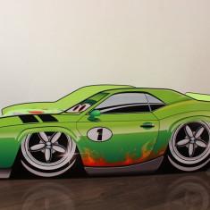 Pat copii masina Fabrizio - Pat tematic pentru copii Altele, Altele, Alte dimensiuni, Verde