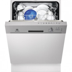 Masina de spalat vase semi incorporabila Electrolux ESI5201LOX, 13 Seturi, 5 Programe, Clasa A+, 60 cm, Gri, Numar programe: 5, A+