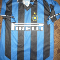 Tricou al echipei Internationale Milano, Jucatorul Vieri, masura 5 -11-12 ani - Tricou echipa fotbal, Marime: S, Culoare: Albastru