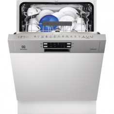 Masina de spalat vase semi incorporabila Electrolux ESI5540LOX, 13 Seturi, 6 Programe, Clasa A++, 60 cm, Gri, Numar programe: 6, A++
