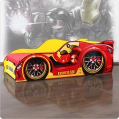 Pat copii masina super-eroului Iron Man - Pat tematic pentru copii Altele, Altele, Alte dimensiuni, Rosu