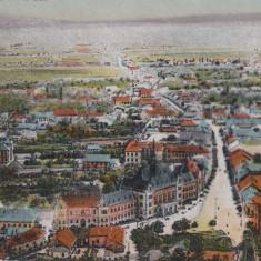 DEVA, VEDERE GENERALA, ED. HIRSCH ADOLF, DEVA, CIRCULATA 1921 - Carte Postala Transilvania dupa 1918, Printata