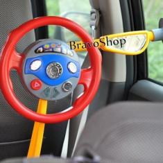 Volan de jucarie pentru copii cu sunete si lumini / Simulator conducere copii