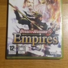 Joc XBOX 360 Dynasty warriors 5 Empires original PAL / by WADDER - Jocuri Xbox 360, Role playing, 16+, Multiplayer