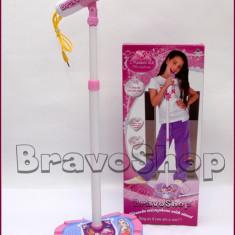 Microfon de jucarie pentru copii, cu amplificator voce si inaltime ajustabila