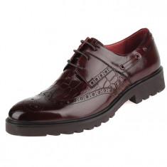 Pantofi din piele barbatesti Brogue-Oxford COD: BROG-1 *** NEW COLLECTION *** - Pantof barbat, Marime: 39, 40, 41, 44, Culoare: Din imagine, Piele naturala