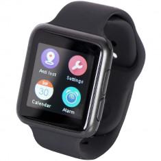 Ceas Smartwatch iUni V9, Bluetooth, LCD 1.44 inch, Procesor 366MHz, Negru