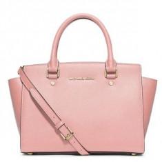 Michael Kors piele geanta de mana roz pudrat - Geanta Dama
