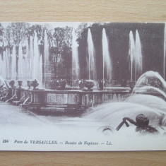 Carte postala necirculata Franta anii'20 Versailles - bassin de Neptune, Printata