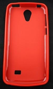 Husa plastic siliconat Vodafone Smart Ultra 7 ROSU foto mare