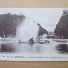 Carte postala necirculata Franta anii'20 Versailles - bassin d'Apollon, Printata