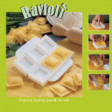 Forma cu presa pentru 3 ravioli - Forma prajitura